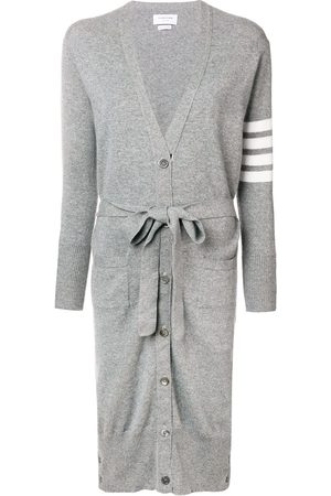 Thom Browne Long Boxy Cashmere Cardigan - Grey