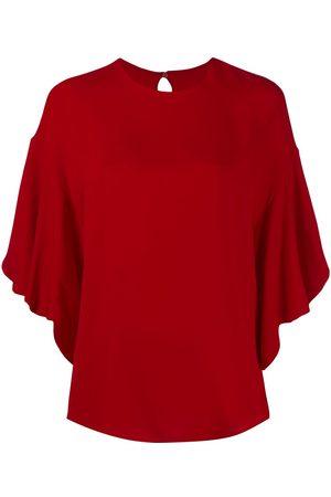 VALENTINO Women Blouses - Frilled tulip-sleeve blouse