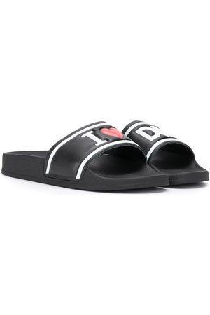 Dolce & Gabbana Girls Sandals - Embossed logo slides