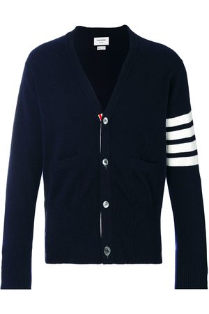 Thom Browne 4-Bar Cashmere Cardigan