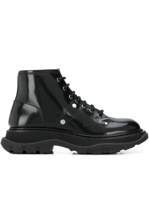 Alexander McQueen Women Lace-up Boots - Tread lace-up boots
