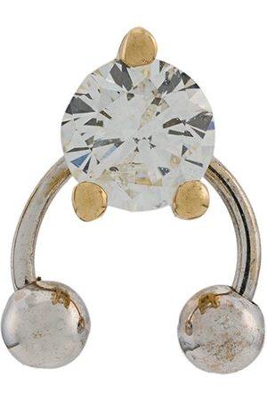DELFINA DELETTREZ Women Earrings - 18kt yellow and white Two In One diamond earring