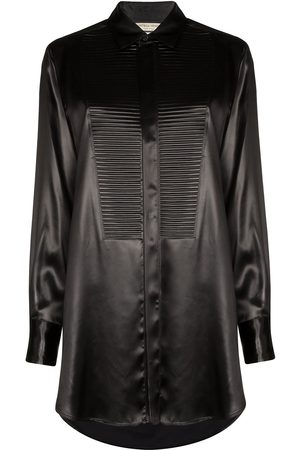 Bottega Veneta Textured bib-panel shirt