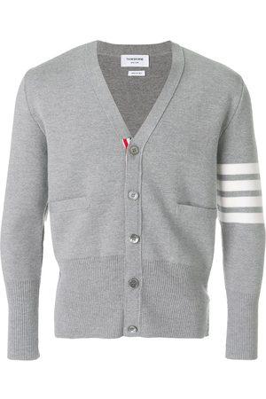 Thom Browne 4-Bar Milano Stitch Cardigan - Grey