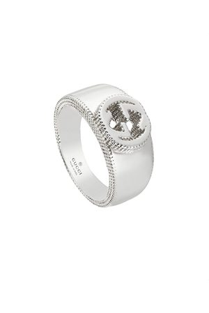 Gucci Women Rings - Interlocking G ring in