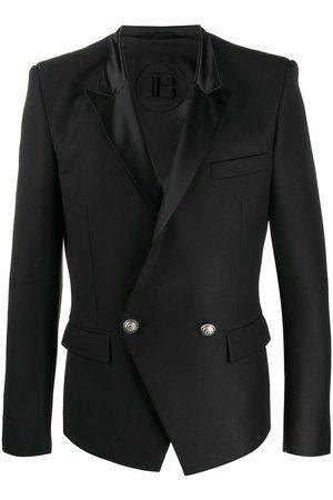 Balmain Satin lapel double-breasted blazer