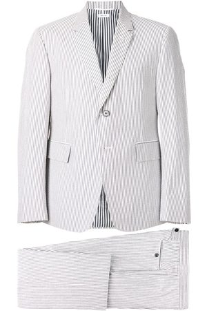 Thom Browne Seersucker Suit With Tie - Grey