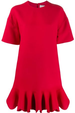 VALENTINO Ruffled hem shift dress