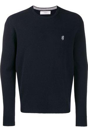 PRINGLE OF SCOTLAND Embroidered logo knit sweater