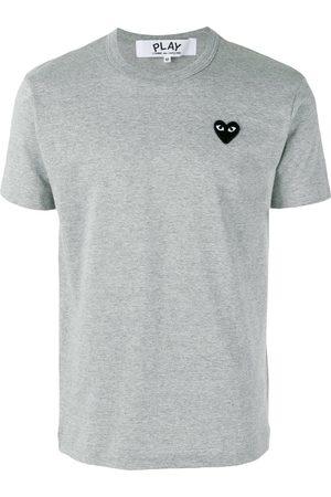 Comme des Garçons Heart patch T-Shirt - Grey