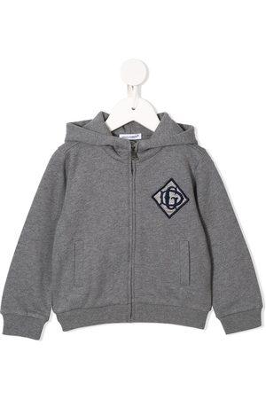 Dolce & Gabbana Embroidered logo hoodie - Grey