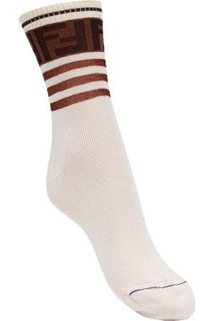 Fendi Women Socks - FF motif socks