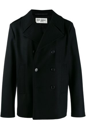 Saint Laurent Boxy fit double-breasted coat