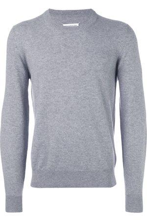 Maison Margiela Men Sweaters - Elbow patch classic sweater - Grey