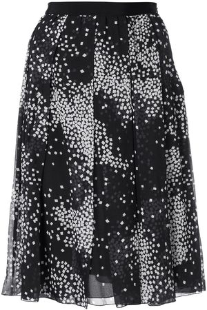 Giambattista Valli Geometric print pleated skirt