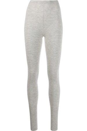 N.PEAL Women Leggings - Stretch fit leggings - Grey