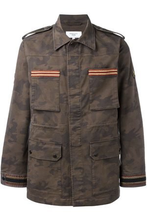 Fashion Clinic Men Jackets - Embroidered trim field jacket