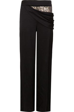 MONSE Sequin side drape trousers