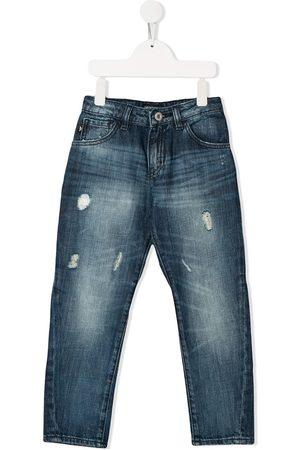 Emporio Armani Boys Skinny - Distressed skinny jeans