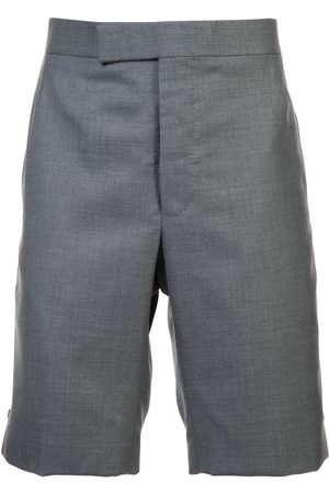 Thom Browne Men Shorts - Classic Backstrap Short In Medium Grey Super 120's Twill