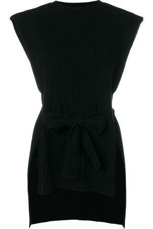 Cashmere In Love Ribbed belted sleeveless top