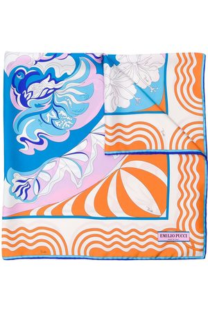 Emilio Pucci Women Scarves - Psychedelic-style patterned scarf