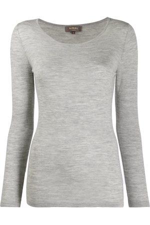 N.PEAL Women Sweatshirts - Long sleeved sweatshirt - Grey