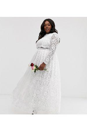 ASOS Curve Grace lace crop top wedding dress