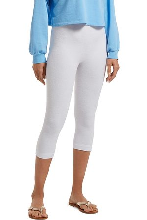 HUE Women Leggings - Reversible French Terry High-Waist Capri Leggings