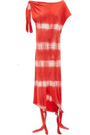 Loewe Paula's Ibiza Knotted Tie-dye Silk-cotton Dress - Womens