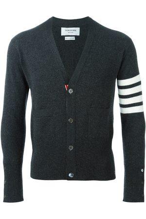 Thom Browne Men Cardigans - 4-Bar Cashmere Cardigan - Grey