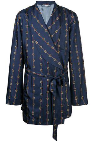 Gucci Stirrups and Web silk coat