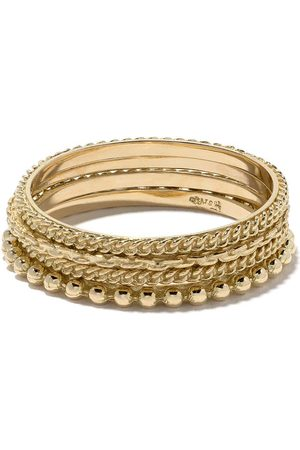 Wouters & Hendrix Gold 18kt four rings set - Metallic