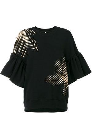 Ioana Ciolacu Women Sweatshirts - Sweatshirt with ruffled sleeves