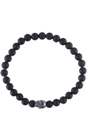 Nialaya Beaded skull bracelet