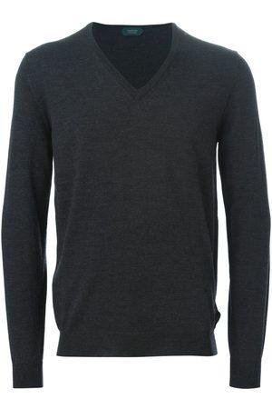 ZANONE V-neck jumper - Grey