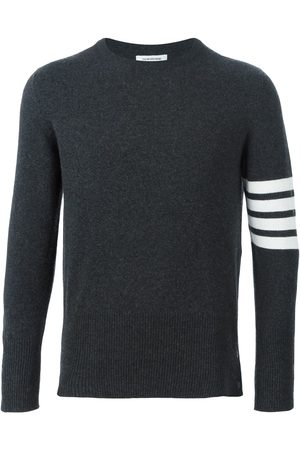 Thom Browne Men Sweaters - 4-Bar Cashmere Pullover - Grey