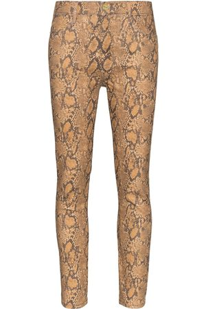 Frame Women High Waisted - High-rise snake-effect jeans