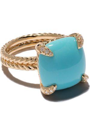 David Yurman Women Rings - 18kt yellow gold Châtelaine turquoise and diamond ring - 88DTQDI
