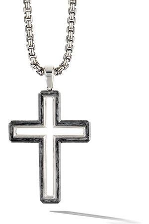 David Yurman Forged Carbon cross pendant - SSBFG