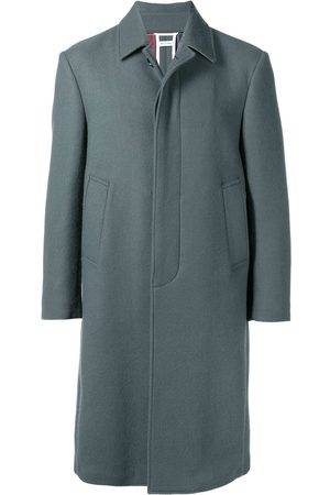 Thom Browne Relaxed Cashmere Bal Collar Overcoat - Grey