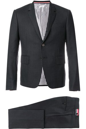 Thom Browne Super 120s Twill Suit With Tie - Grey