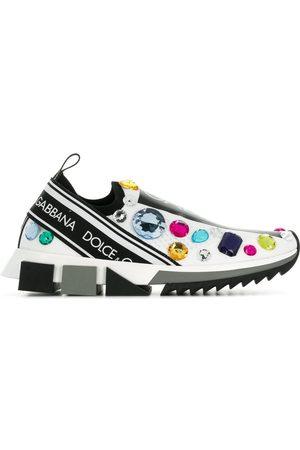 Dolce & Gabbana Women Flat Shoes - Embellished slip-on sneakers