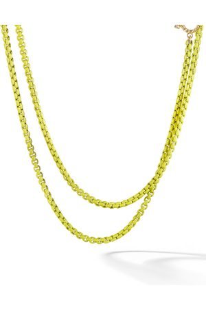 David Yurman Women Bracelets - 14kt yellow gold accented DY Bel Aire chain necklace - L4YLW