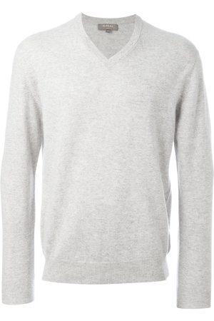 N.PEAL The Burlington' V Neck jumper - Grey