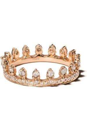ANNOUSHKA 18kt rose Crown diamond ring - 18ct Rose