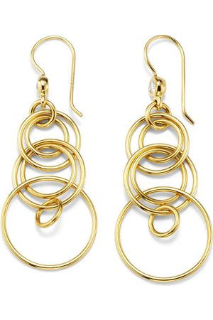 Ippolita 18kt yellow small Classico smooth Jet Set diamond earrings