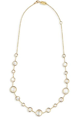 Ippolita 18kt yellow short Lollipop Lollitini mother-of-pearl and clear quartz necklace