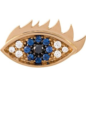 DELFINA DELETTREZ Eyes on me' diamond and sapphire earring - Metallic