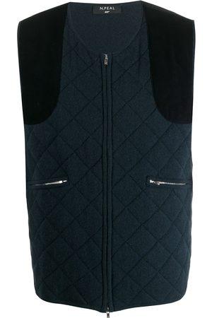 N.PEAL 007 diamond padded waistcoat